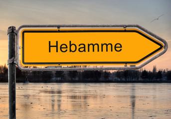 Strassenschild 9 - Hebamme
