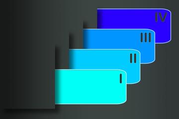 Blaue Geschäftsvorlage