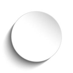 White Circle Button on White Background