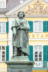 Beethoven Statue in front of Bonn Main Post Office