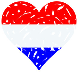 Holland flag heart