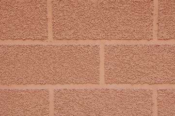 Decorative plaster imitating brick wall