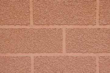 Decorative plaster imitating brick wall