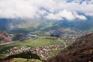 Stepantsminda village, Georgia