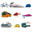 Public transportation icons - 64797015