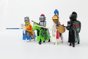 Cavaliers chevaliers avant tournoi