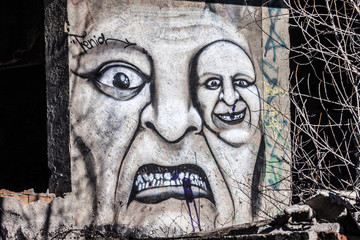 Scarry graffiti