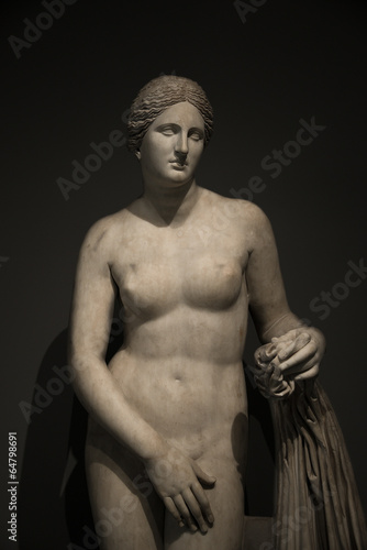 Statue of nacked Venus at black background , Rome, Italy