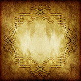 Fototapety vintage victorian grunge paper with floral ornament