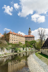 View of Cesky Krumlov of the Czech Republic