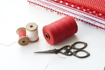 Spool of thread . Sew accessories