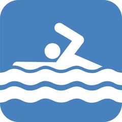 Schwimmen Piktogramm