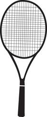 tennis racquet black silhouette