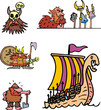 Постер, плакат: Miscellaneous viking cartoons