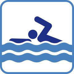 Schwimmer Zeichen