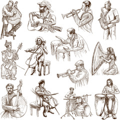 Musicians and Music around the World (set no. 2, white)
