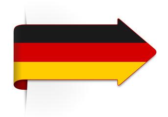 Schild Pfeil Deutschland