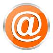 email orange glossy icon