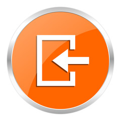 enter orange glossy icon