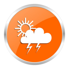 storm orange glossy icon