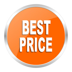 best price orange glossy icon