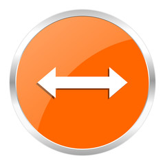 arrow orange glossy icon