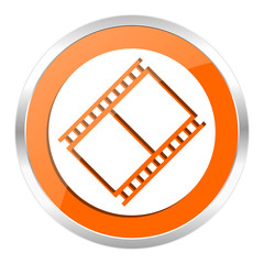film orange glossy icon