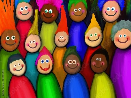 Crowd of Diverse People - 64803634