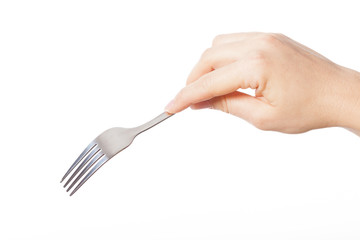 Hand with fork