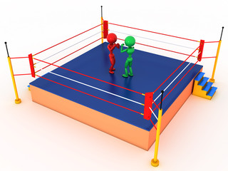Two boxers in a boxing ring #3
