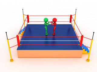 Two boxers in a boxing ring  #2