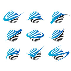 Swoosh Sphere Icons