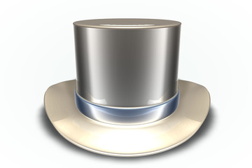 Tan Chrome Top Hat