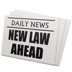 Newspaper new law ahead