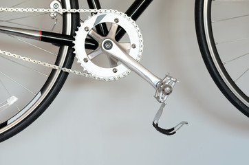 Closeup of  bike pedal