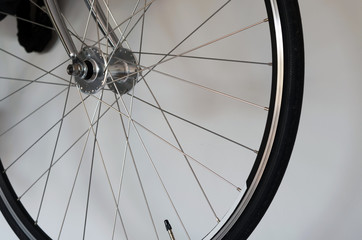 detail of bicycle wheel
