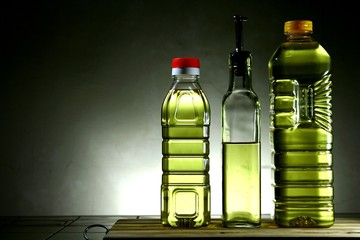 Cooking Oil in Different Bottles