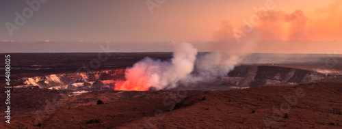 Active Halemaumau Crater At Sunset - 64808025
