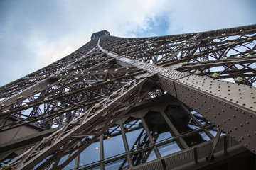 Paris, France. Structural elements of the Eiffel Tower