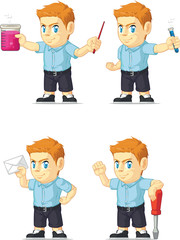 Red Head Boy Customizable Mascot 12