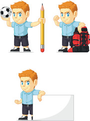 Red Head Boy Customizable Mascot 14