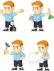 Red Head Boy Customizable Mascot 16