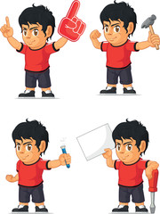 Soccer Boy Customizable Mascot 6