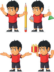 Soccer Boy Customizable Mascot 8