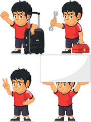 Soccer Boy Customizable Mascot 14