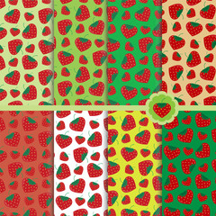 pole patterns with strawberries