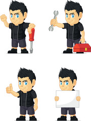 Spiky Rocker Boy Customizable Mascot 9