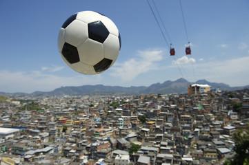 Football Soccer Ball Rio de Janeiro Brazil Favela
