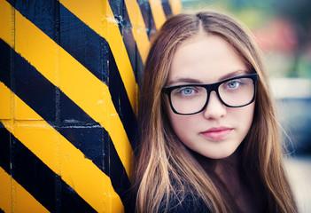 Urban hipster girl