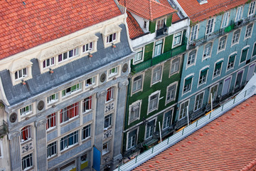 Baixa Houses in Lisbon from Above